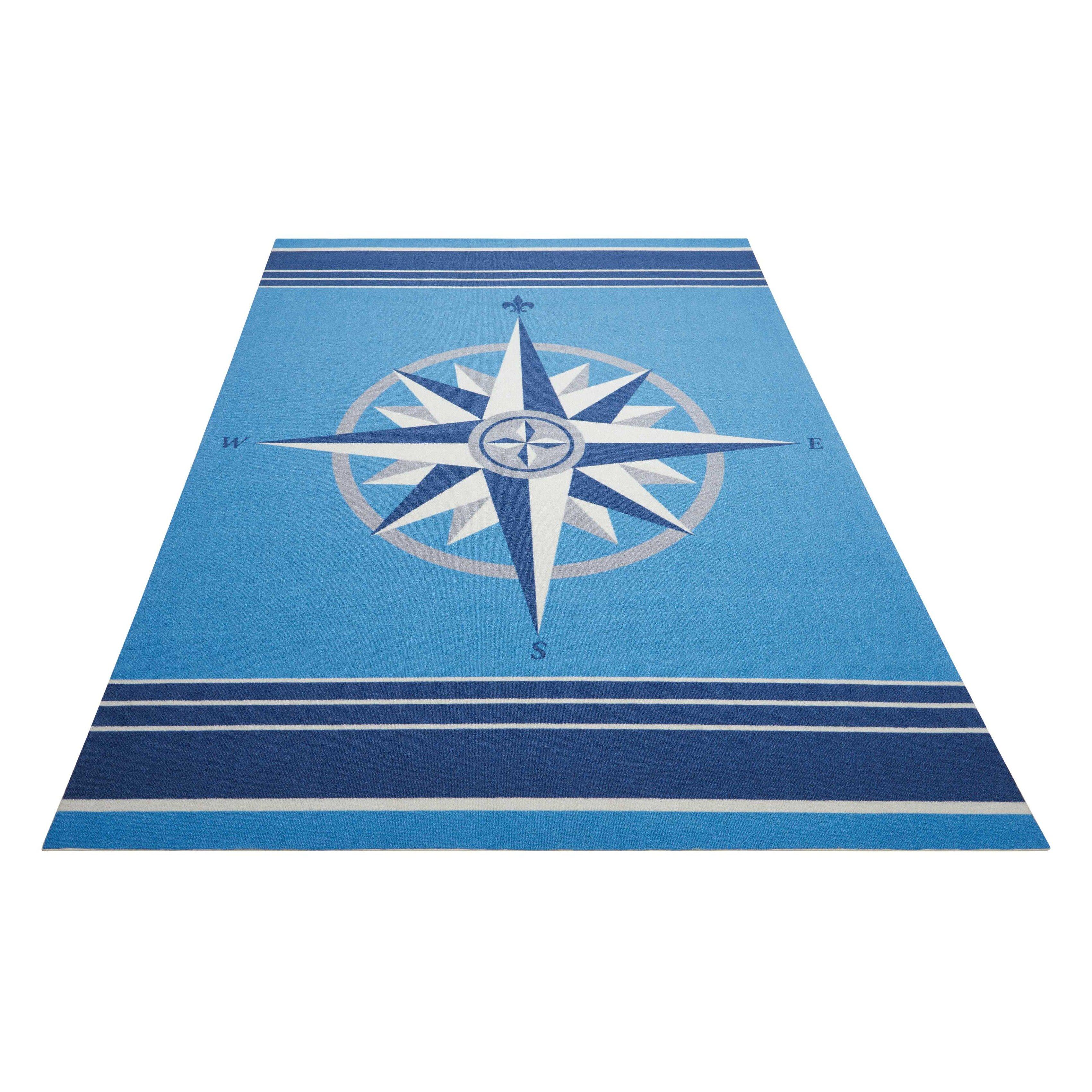 Waverly Sun n' Shade Blue IndoorOutdoor Area Rug & Reviews  Wayfairca # Sun Shower Rug_220024
