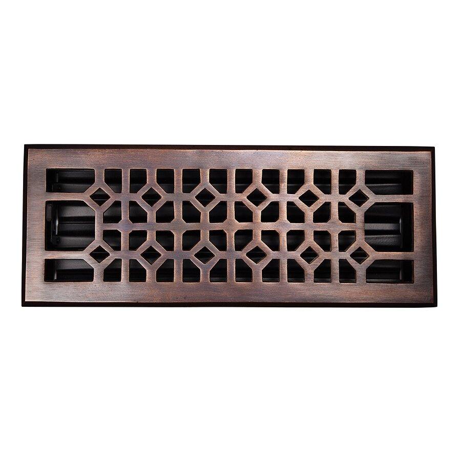 Decorative Grates Registers The Copper Factory 4 X 12 Copper Floor Register Reviews Wayfair