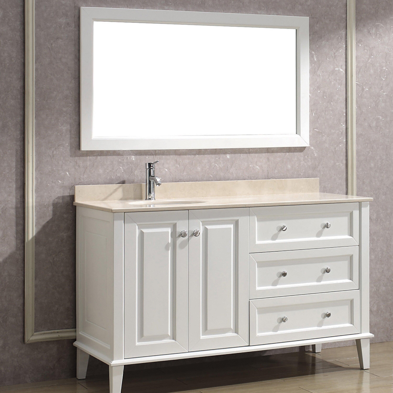 Bauhaus Bath Milly 55 quot  Single Bathroom Vanity Set with Mirror. Bauhaus Bath Milly 55  Single Bathroom Vanity Set with Mirror