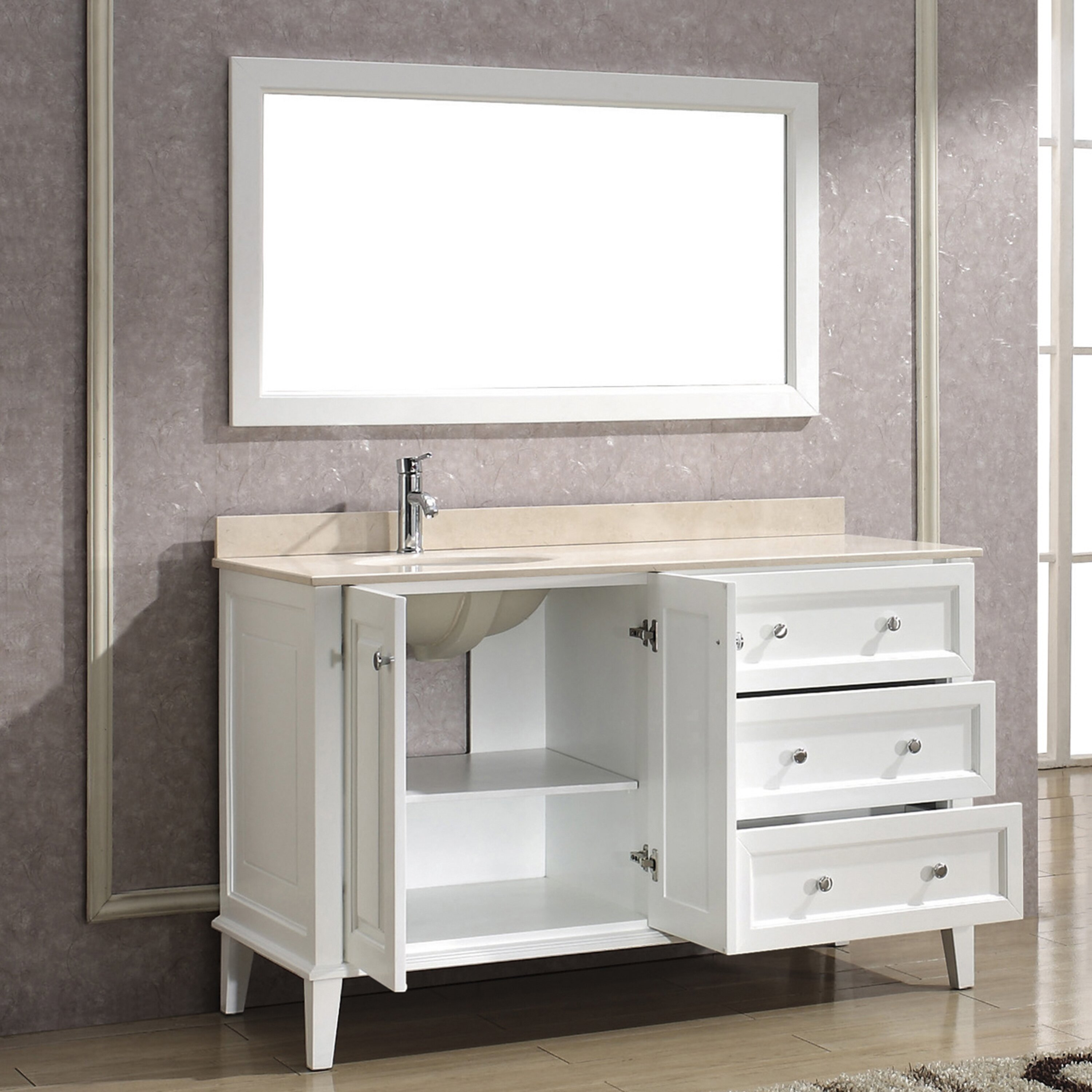 Wash Tub Vanity : Bauhaus Bath Milly 55