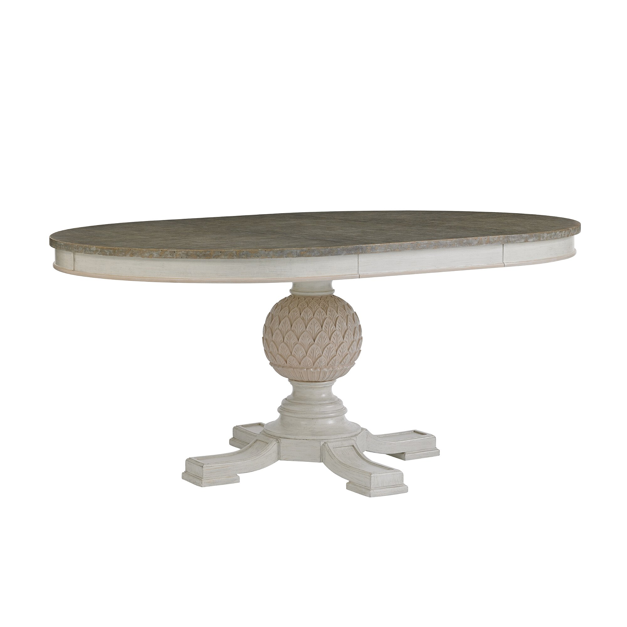 Oval Kitchen Table Pedestal Oval Pedestal Dining Table With Two Leaves Free Image