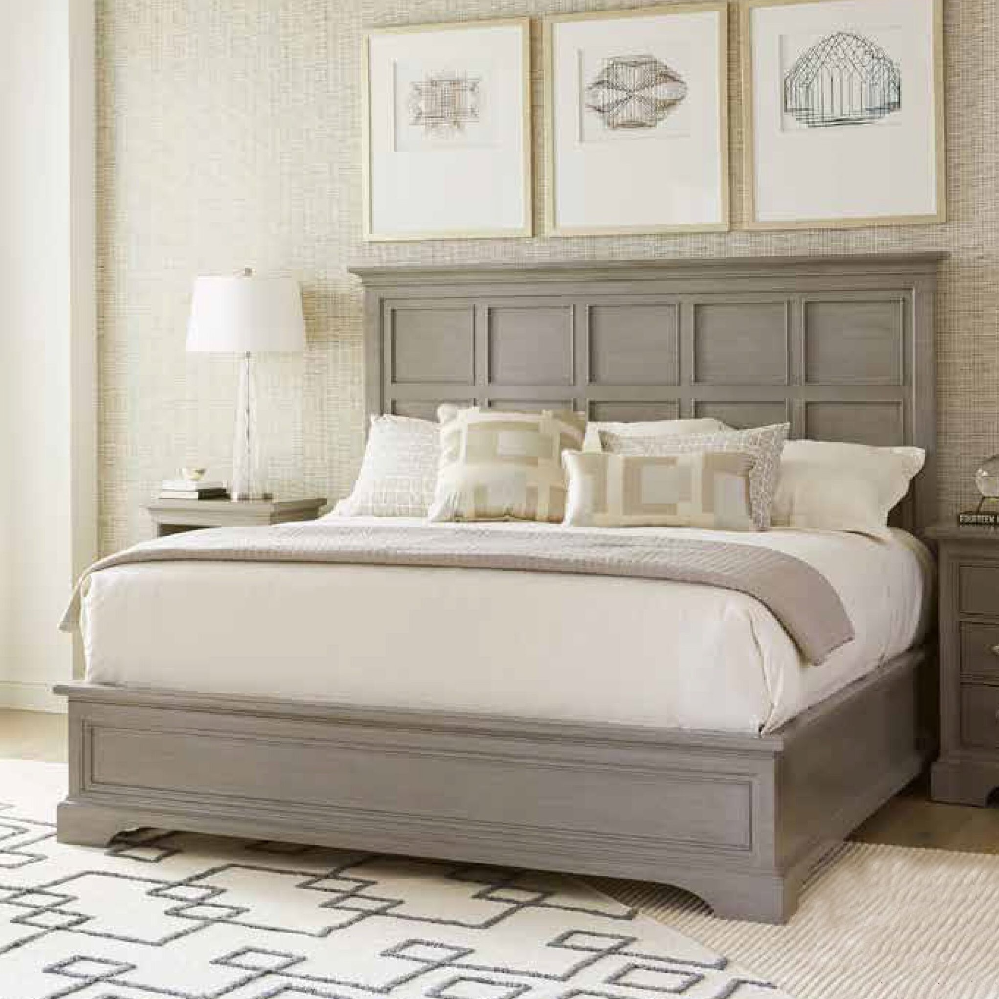 Transitional Bedroom Furniture: Stanley Transitional Panel Bed & Reviews