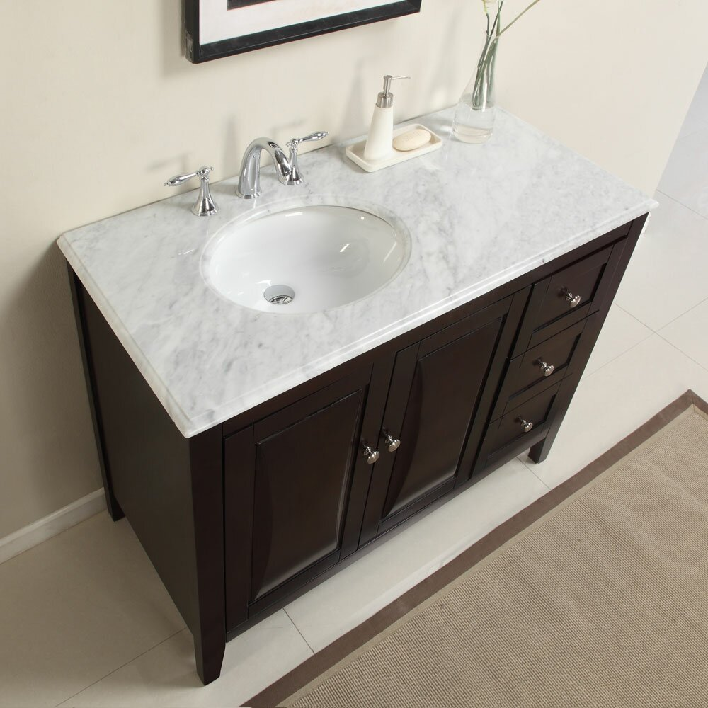 Bathroom single sink cabinets - Silkroad Exclusive 45 Quot Single Sink Cabinet Bathroom Vanity Set