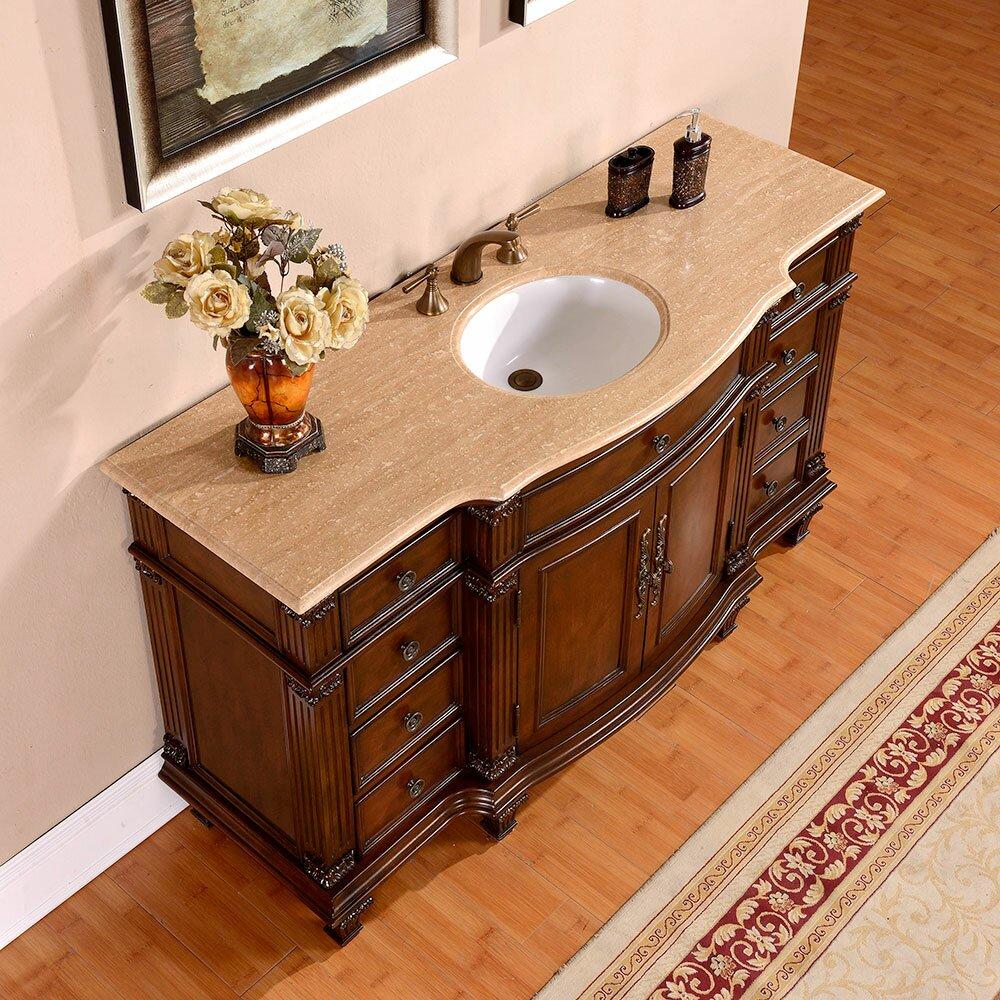 Silkroad Exclusive 60 quot  Single Sink Cabinet Bathroom Vanity Set. Silkroad Exclusive 60  Single Sink Cabinet Bathroom Vanity Set