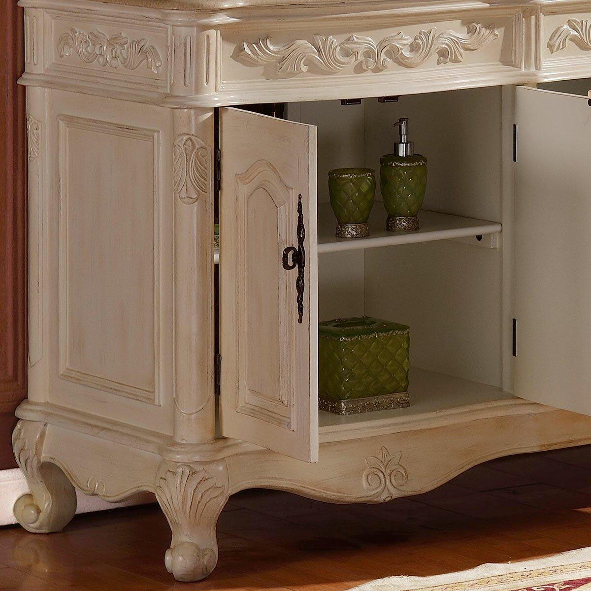 Silkroad exclusive 72 double sink cabinet bathroom vanity for Bathroom vanity and cabinet sets