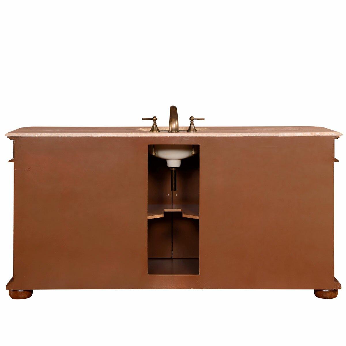 Silkroad Exclusive 72 Single Sink Cabinet Bathroom Vanity