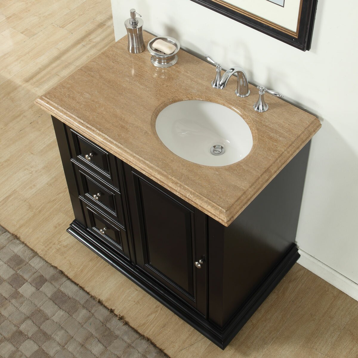 Bathroom Single Vanity Silkroad Exclusive 36 Single Bathroom Vanity Set With Sink On