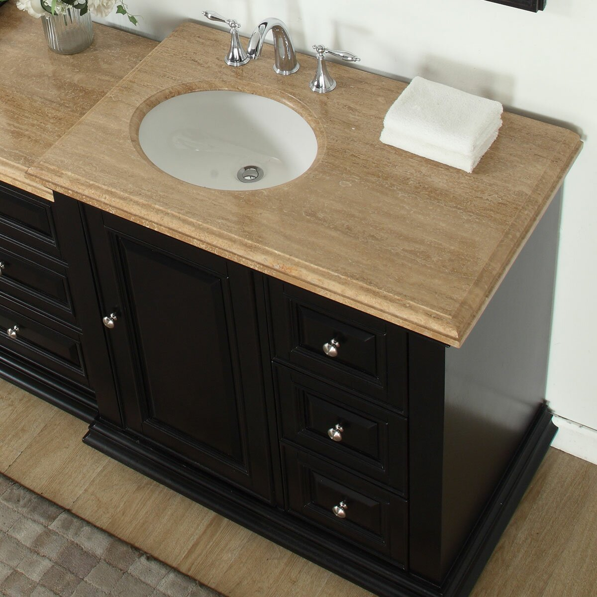 90 Bathroom Vanity Silkroad Exclusive 905 Double Sink Bathroom Modular Vanity Set