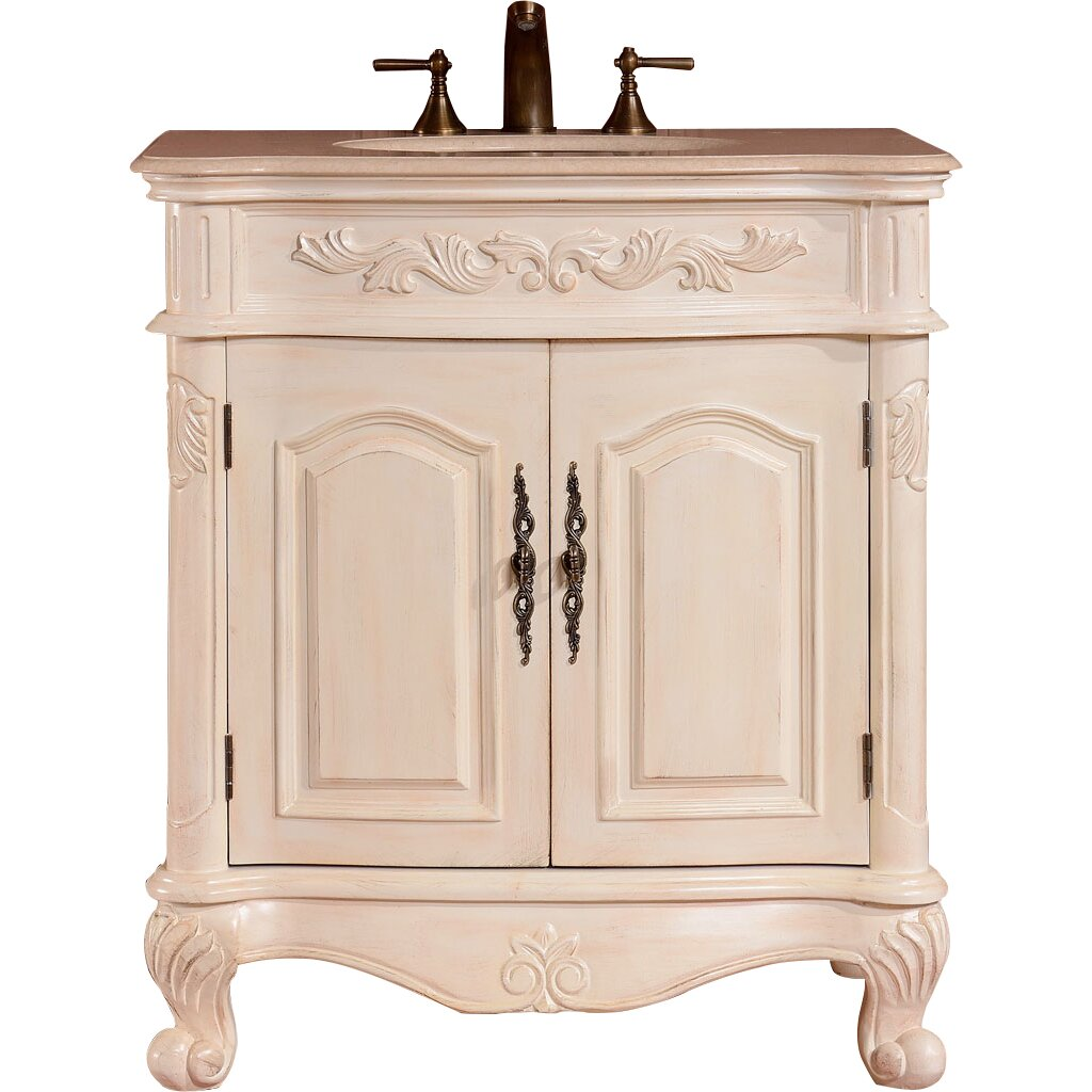 Silkroad Exclusive 32 Single Sink Cabinet Bathroom Vanity