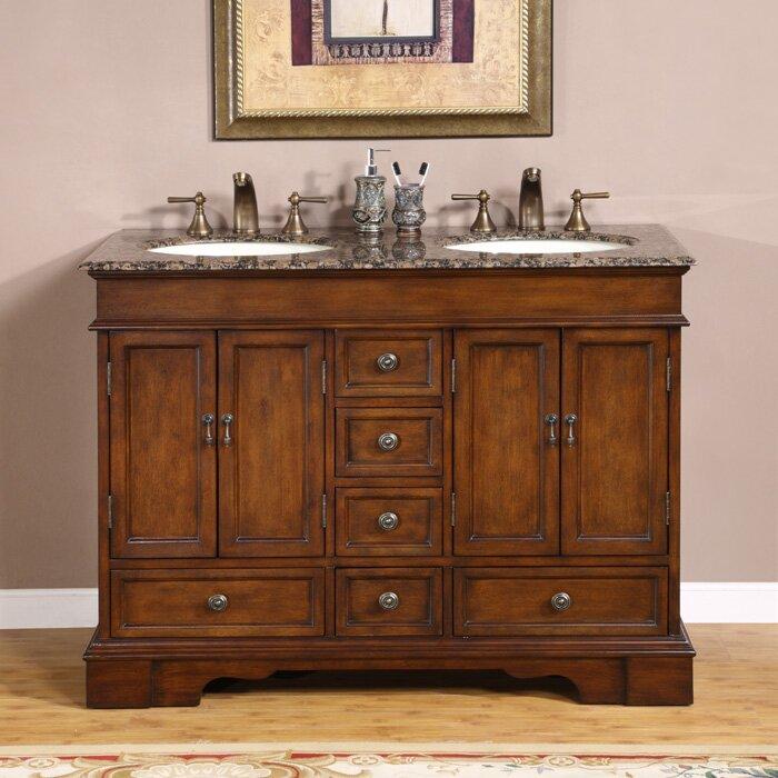 Bradford 48  Double Bathroom Vanity Set. 46   50  Bathroom Vanities You ll Love   Wayfair