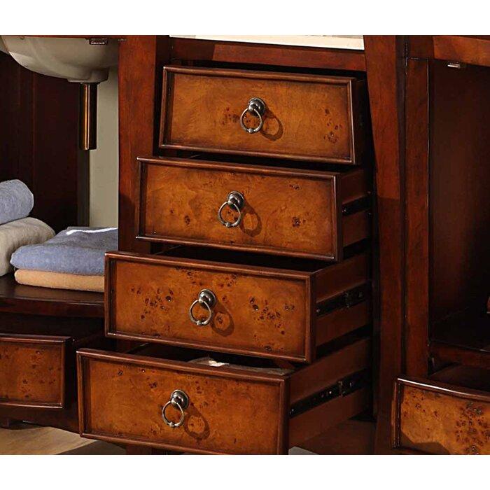 Silkroad Exclusive Northampton 67 Quot Double Bathroom Vanity