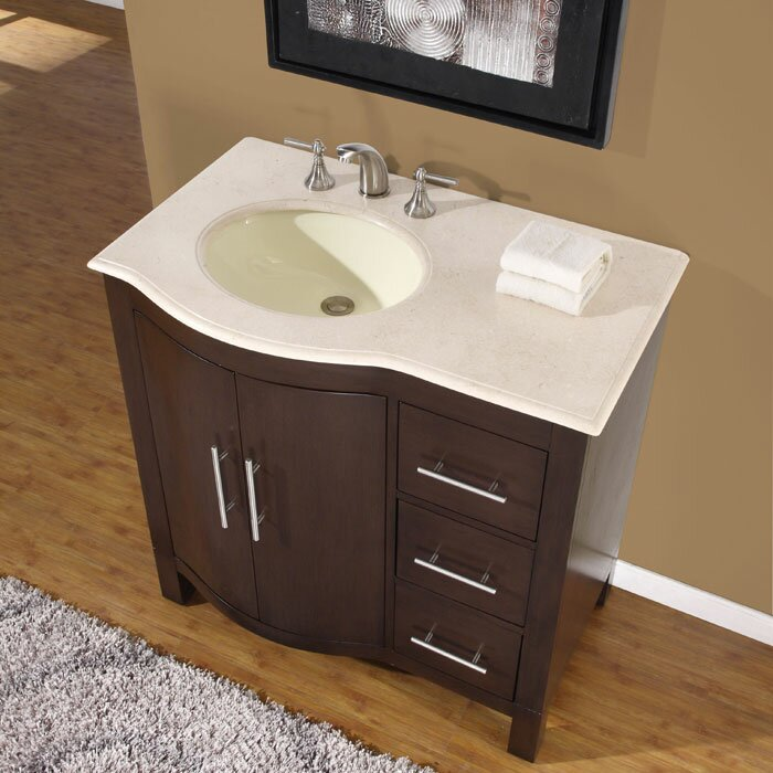 Silkroad Exclusive Kimberly 36 amp quot  Single Bathroom Vanity Set. Silkroad Exclusive Kimberly 36 quot  Single Bathroom Vanity Set