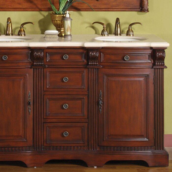 Silkroad Exclusive Olivia 58 Double Bathroom Vanity Set Reviews – 58 Bathroom Vanity