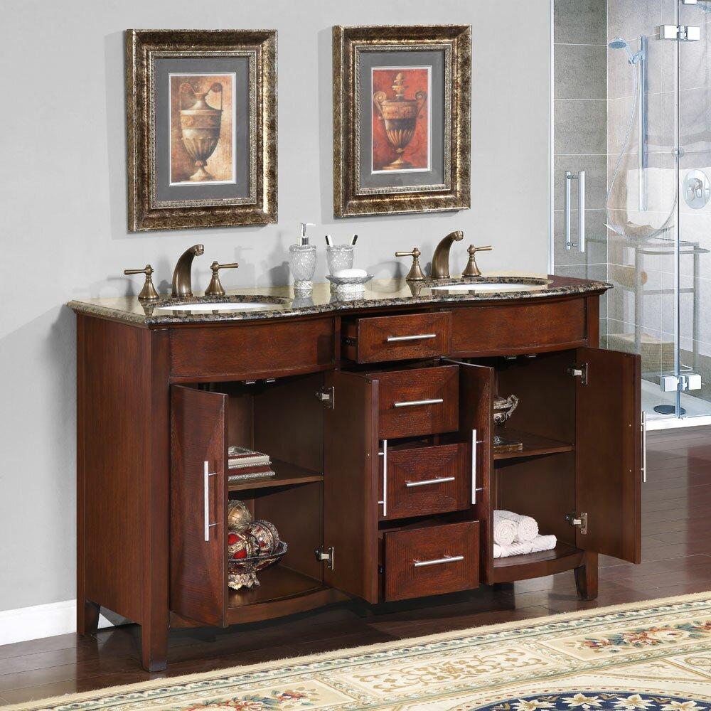 Silkroad Exclusive Cambridge 58 Double Bathroom Vanity Set – 58 Bathroom Vanity