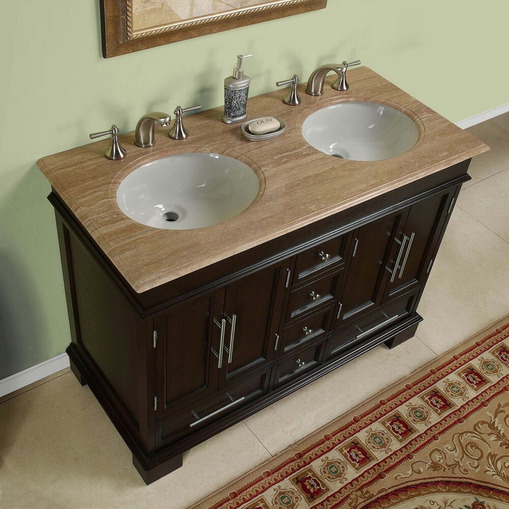 "silkroad exclusive sally 48"" double bathroom vanity set & reviews"