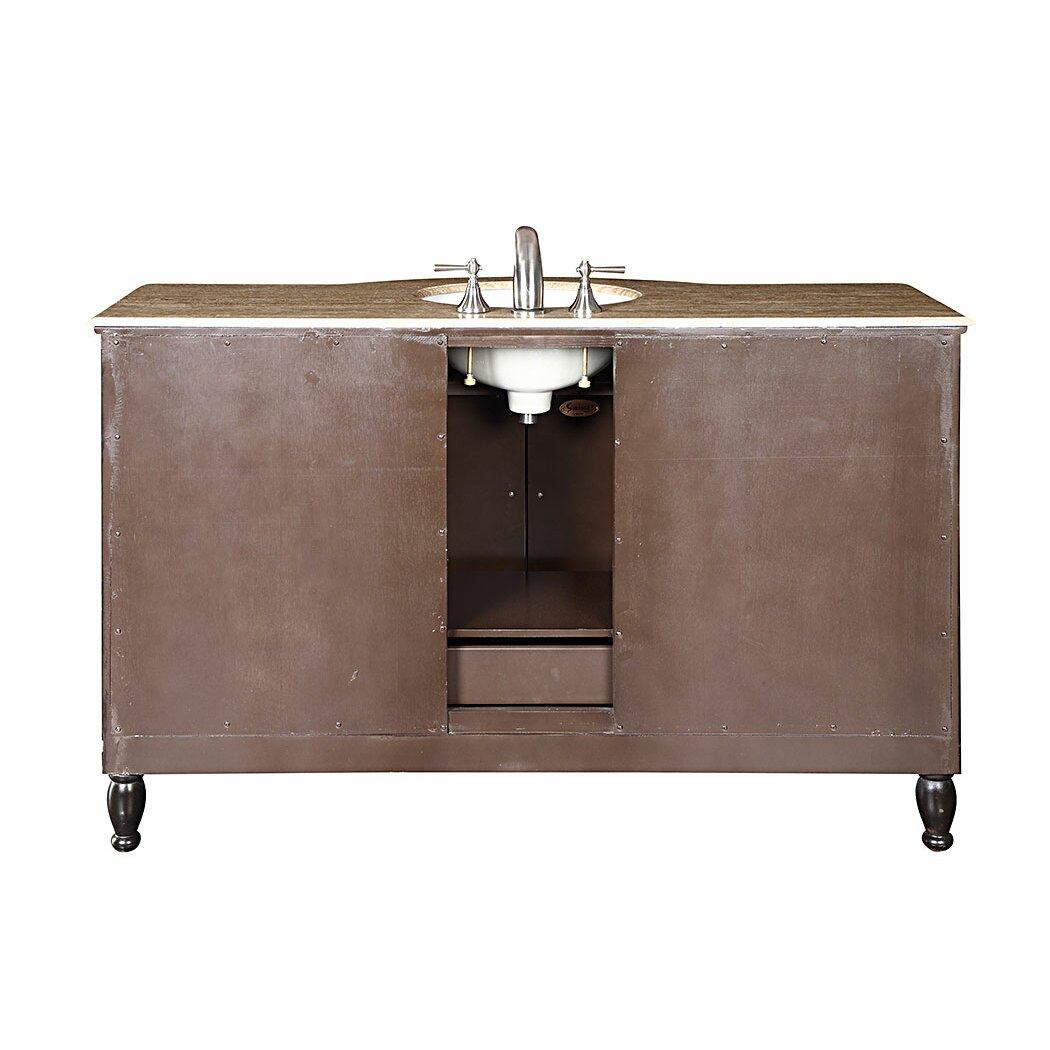 Silkroad Exclusive Kelston 58 Single Bathroom Vanity Set – 58 Bathroom Vanity
