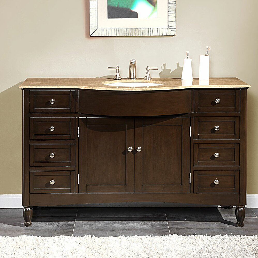 Bathroom Single Vanity Silkroad Exclusive Kelston 58 Single Bathroom Vanity Set