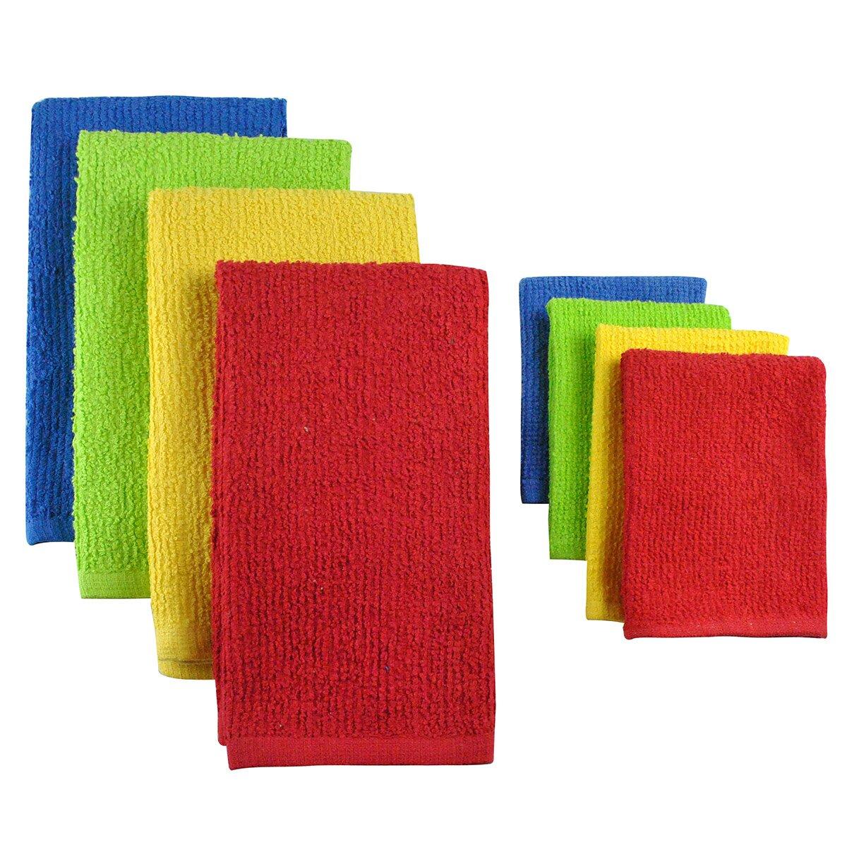 Dish Towel In: Design Imports 8 Piece Terry Bar Mop Dish Towel & Dish