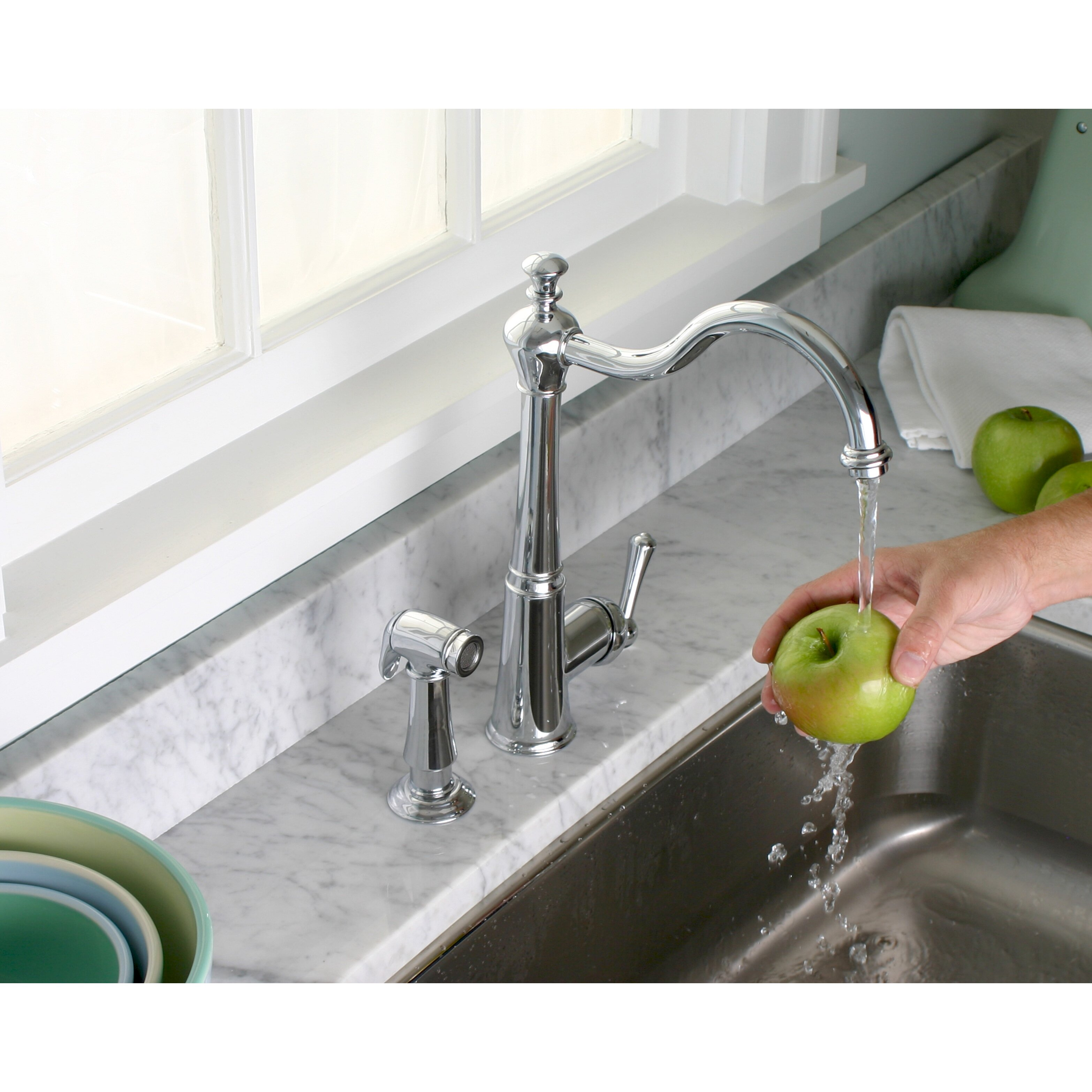 30  Off Delta Pilar 4380 DST Single Handle Kitchen. Single Handle Kitchen Faucet With Side Spray   emmolo com
