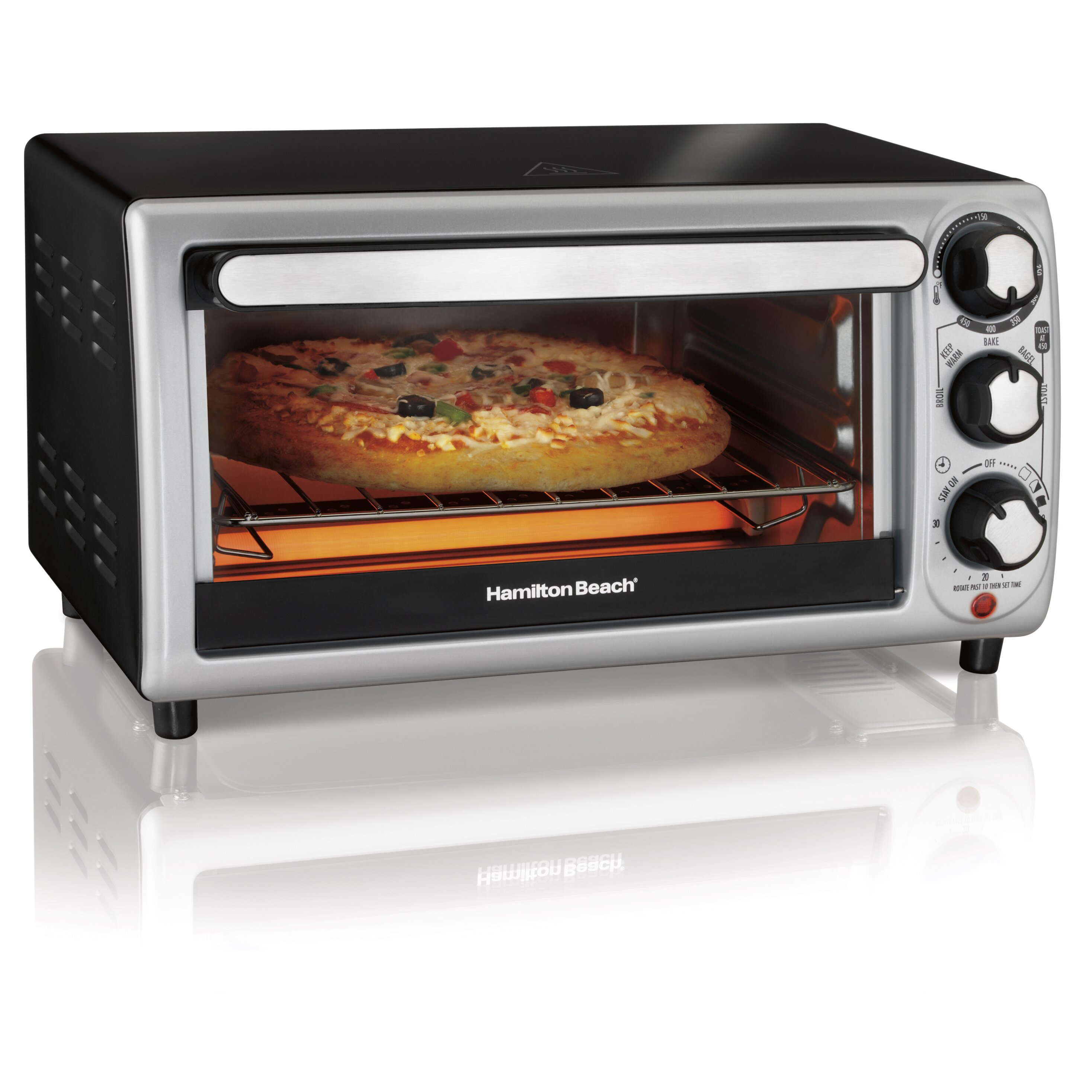 Best Under Cabinet Toaster Oven Hamilton Beach 4 Slice Toaster Oven Reviews Wayfair