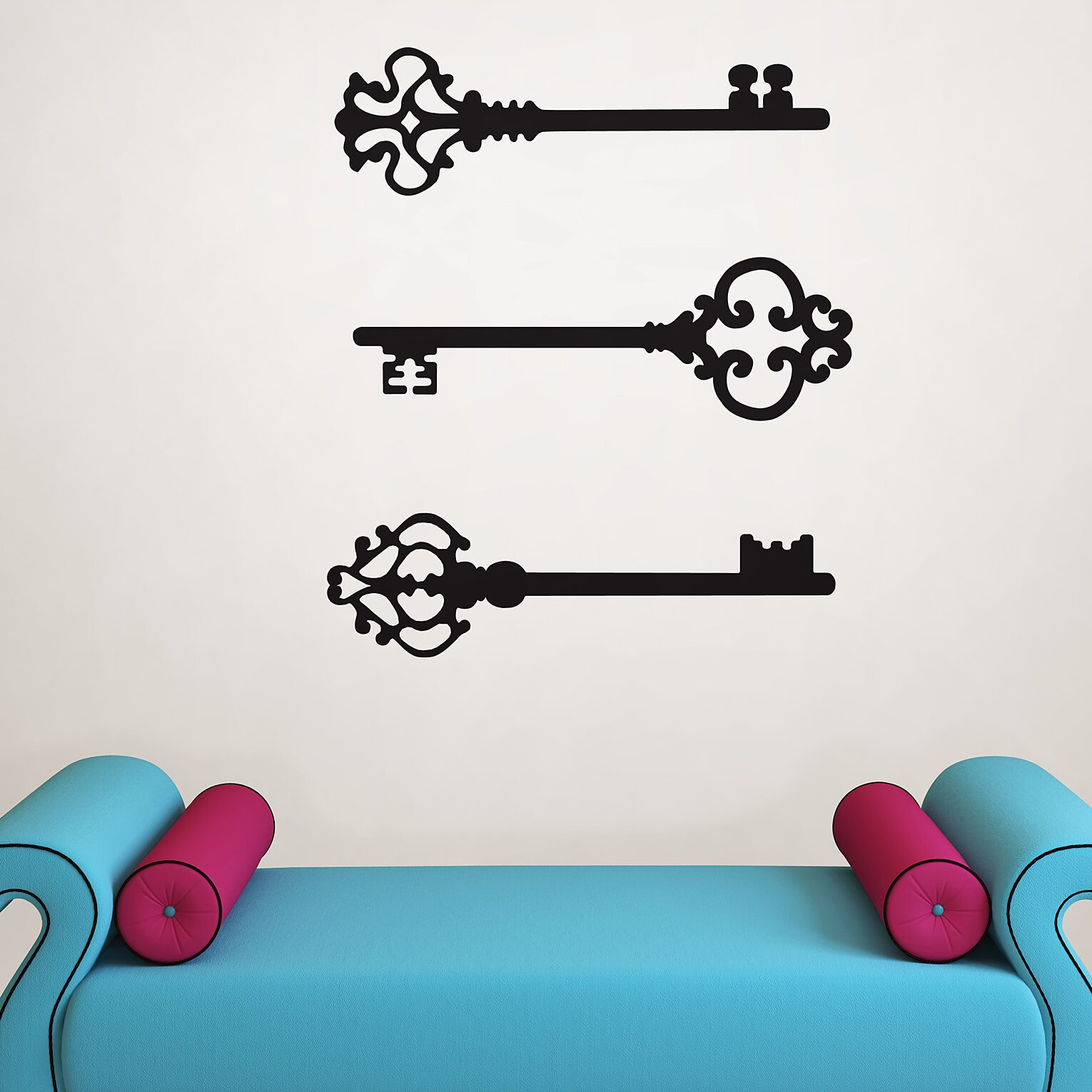 Small Key Wall Decor : Wallpops wall art kit keys to my heart small decal