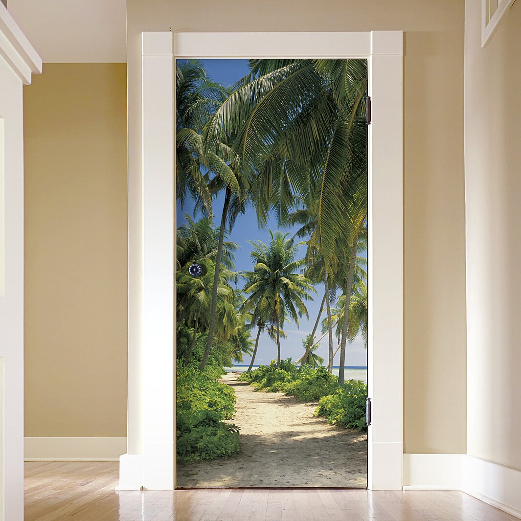 Brewster home fashions komar way to the beach wall mural for Brewster wall mural