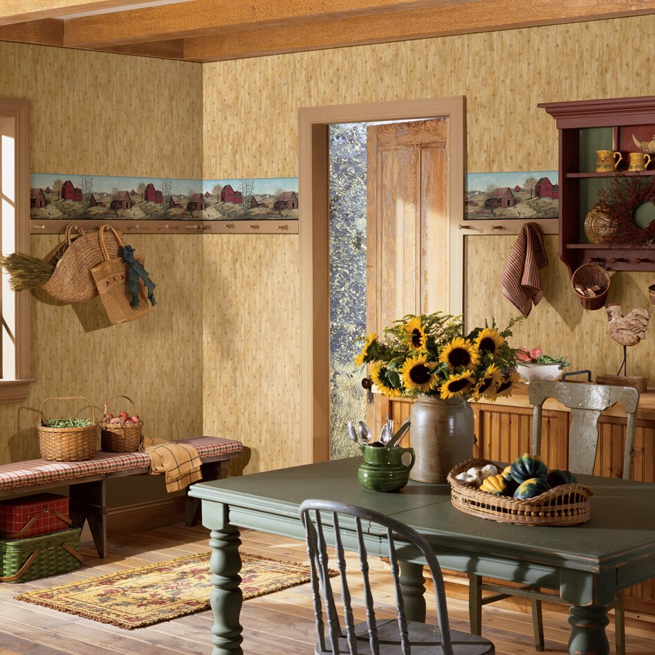 Living Room Borders Brewster Home Fashions Borders By Chesapeake Rolling Farmstead