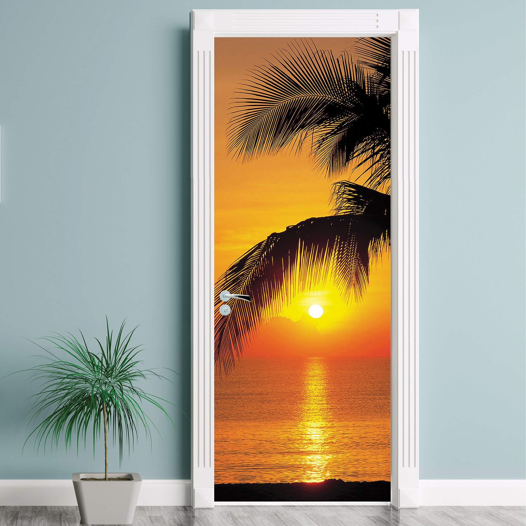 Brewster home fashions komar palmy beach sunrise wall for Brewster home fashions komar wall mural