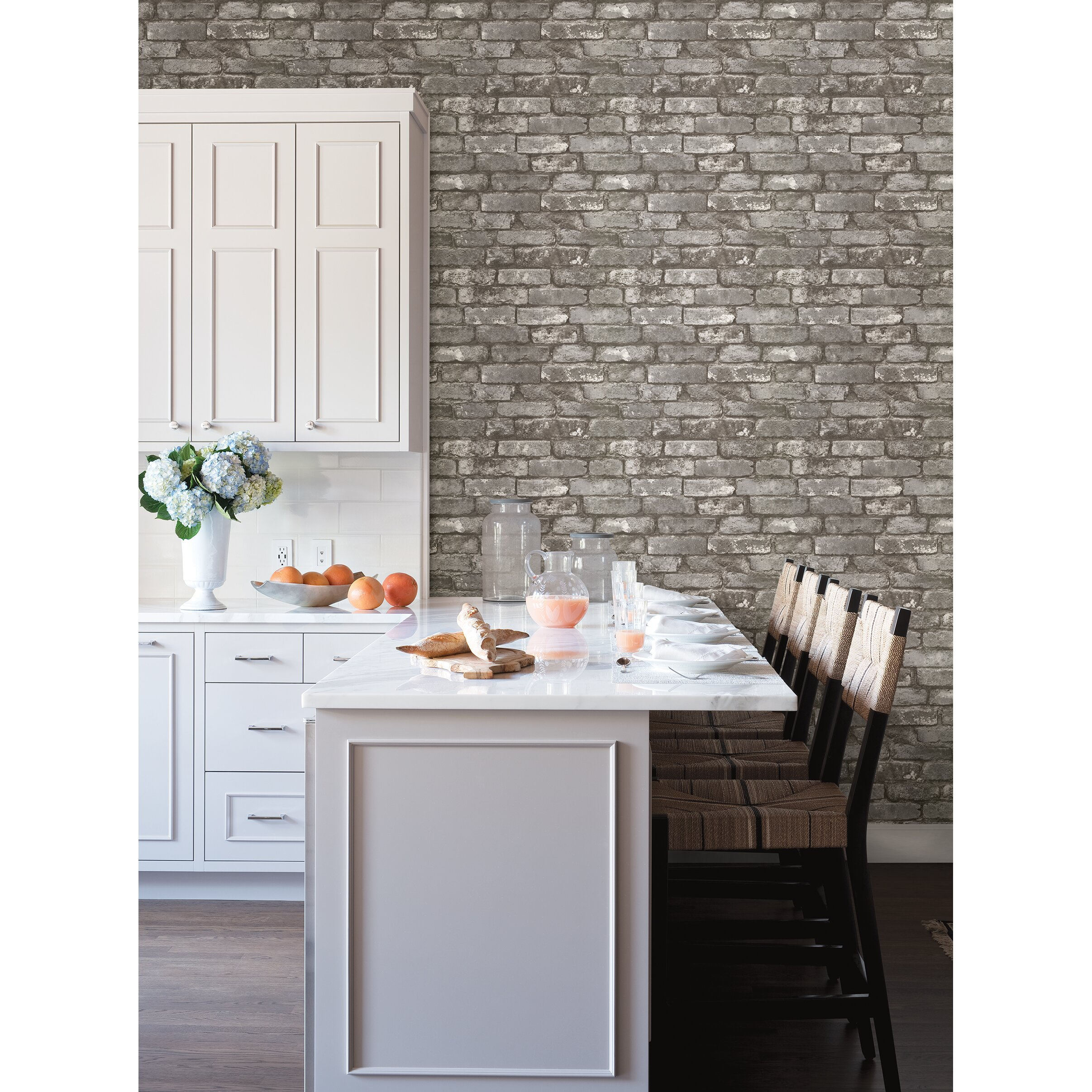 Brewster Home Fashions 33  x 20 5 quot  Chelsea Brick Wallpaper. Brewster Home Fashions 33  x 20 5  Chelsea Brick Wallpaper