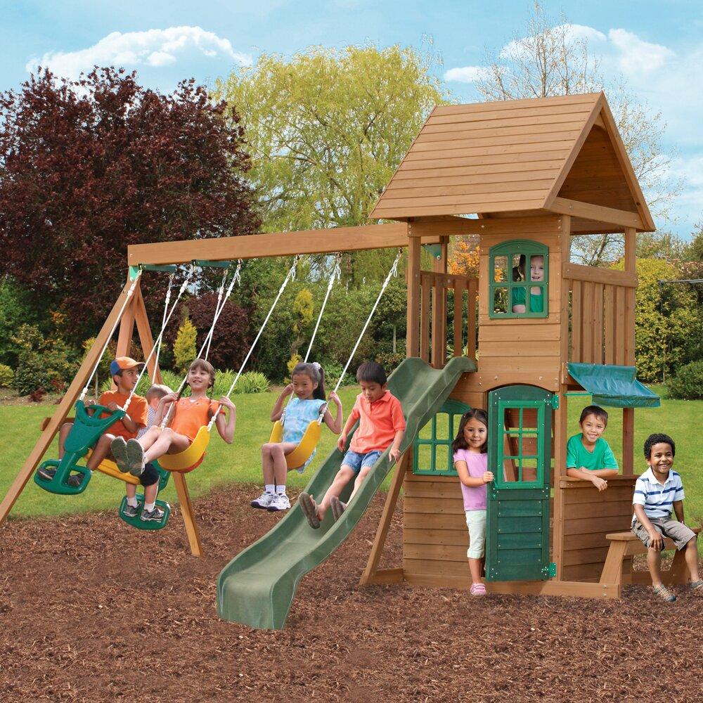 baby kids backyard play wood swing sets big backyard sku
