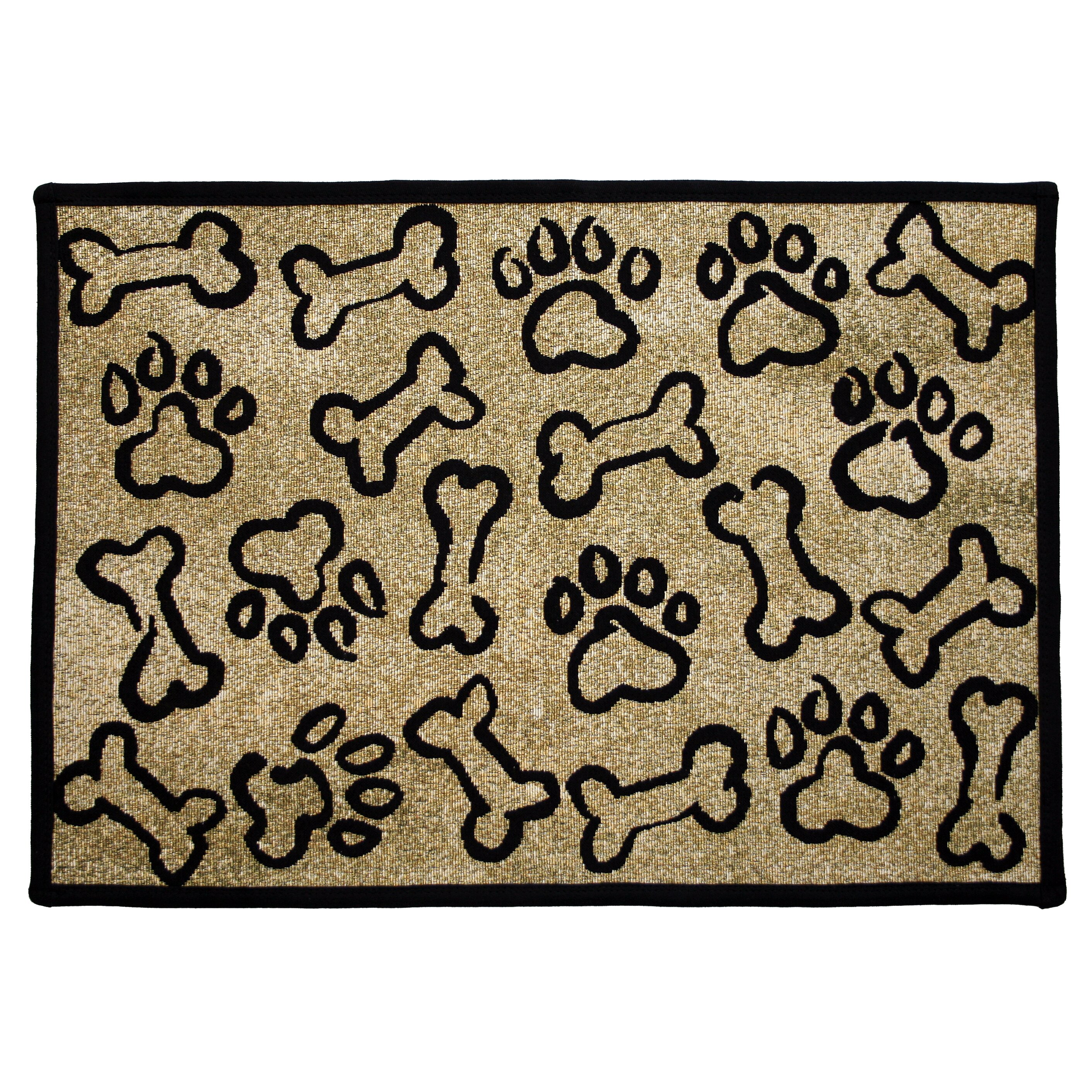 Park B Smith Ltd PB Paws & Co. Gold Puppy Paws Tapestry