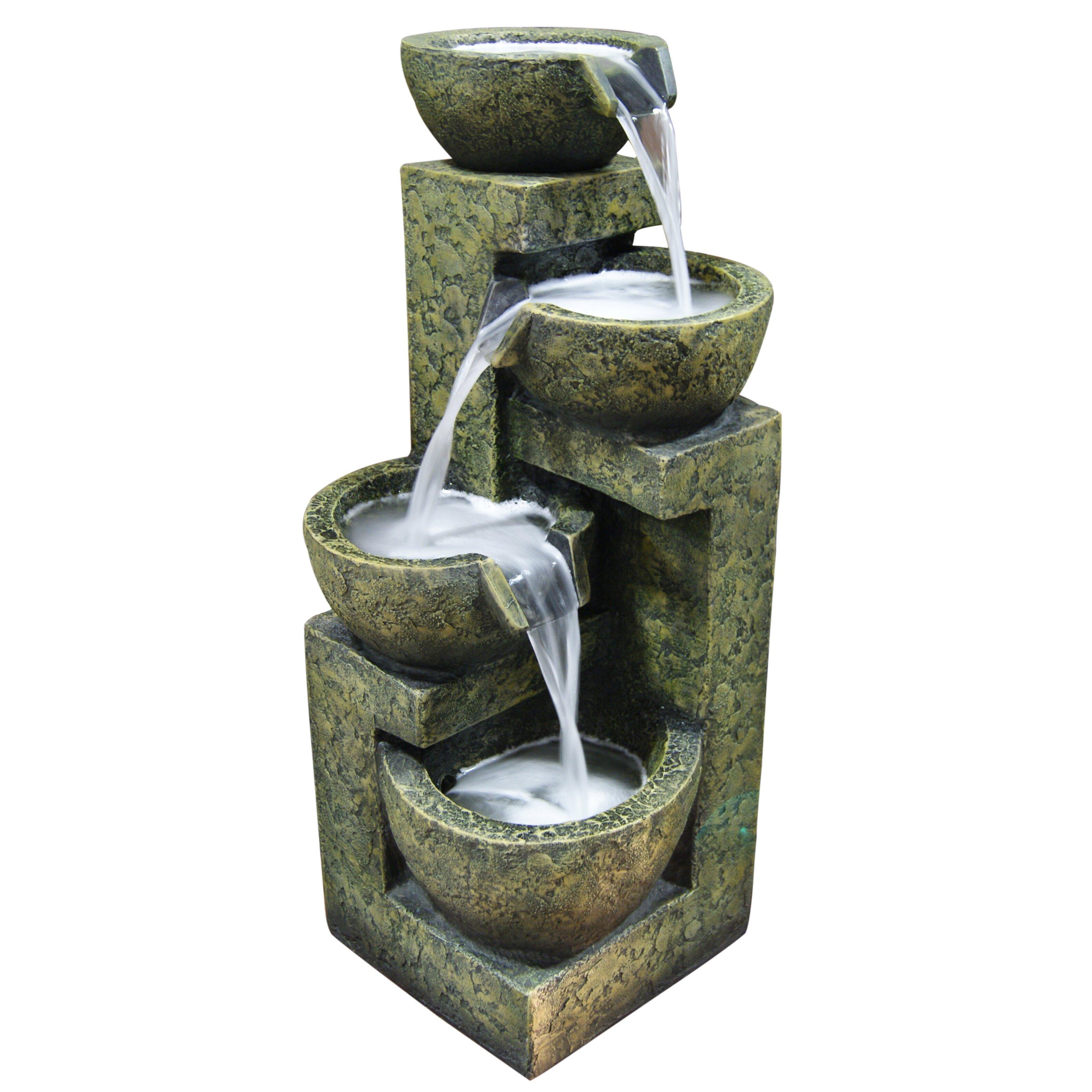 Water fountains calgary - Fiberglass Polystone Three Tier Water Fountain