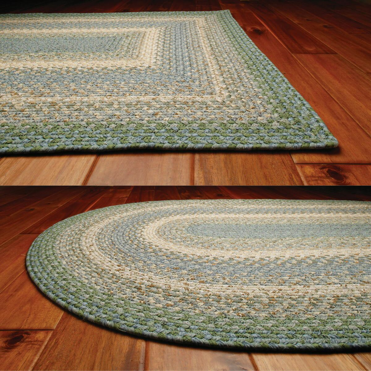 homespice decor cotton braided baja blue area rug - Homespice Decor