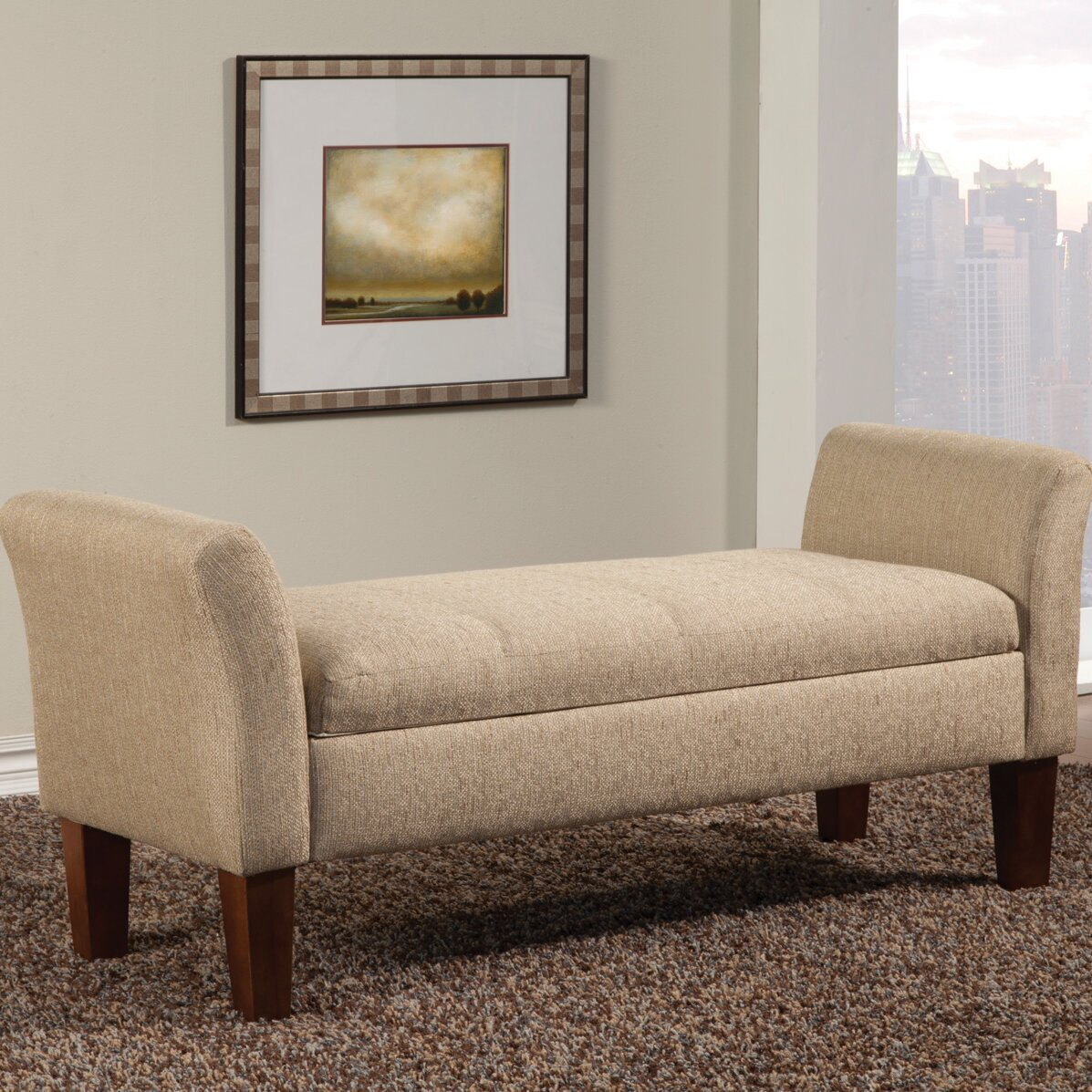 Wildon Home ® Upholstered Storage Bedroom Bench & Reviews