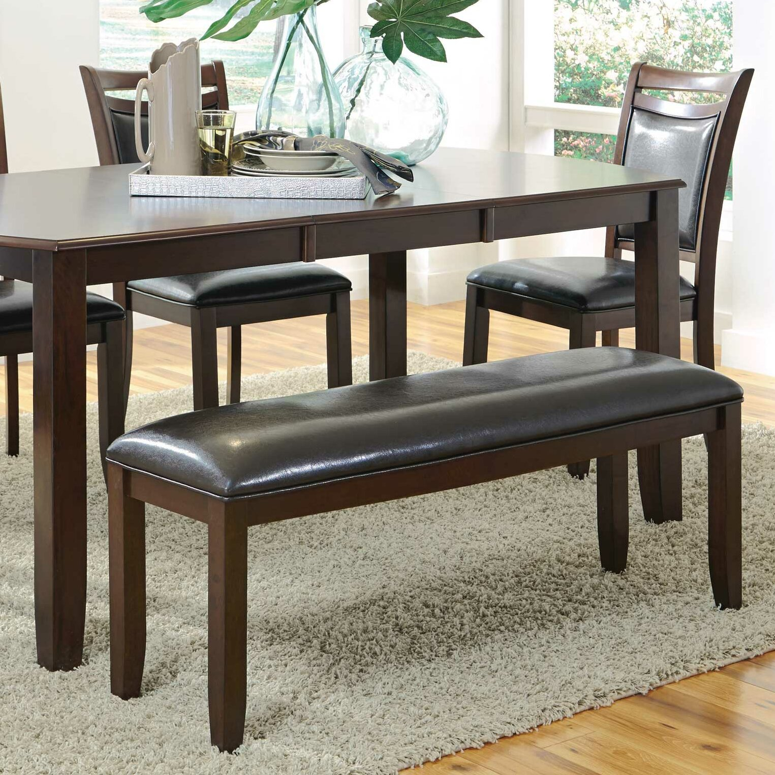 Wildon Home Upholstered Dining Bench & Reviews