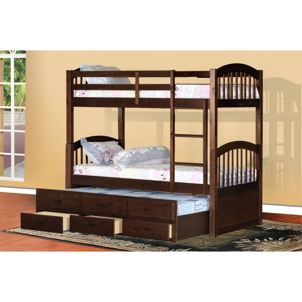 Wildon Home 174 Arthur Twin Bunk Bed With Trundle And