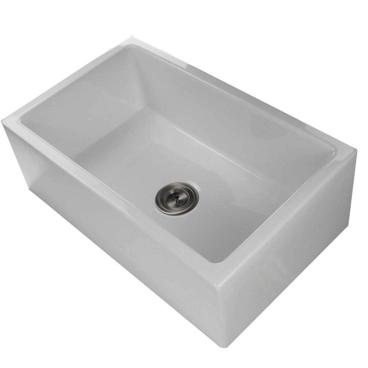 White apron kitchen - White Apron Kitchen Sink Fireclay Apron Kitchen Sink Wildon Home Reg 29 75 Quot X