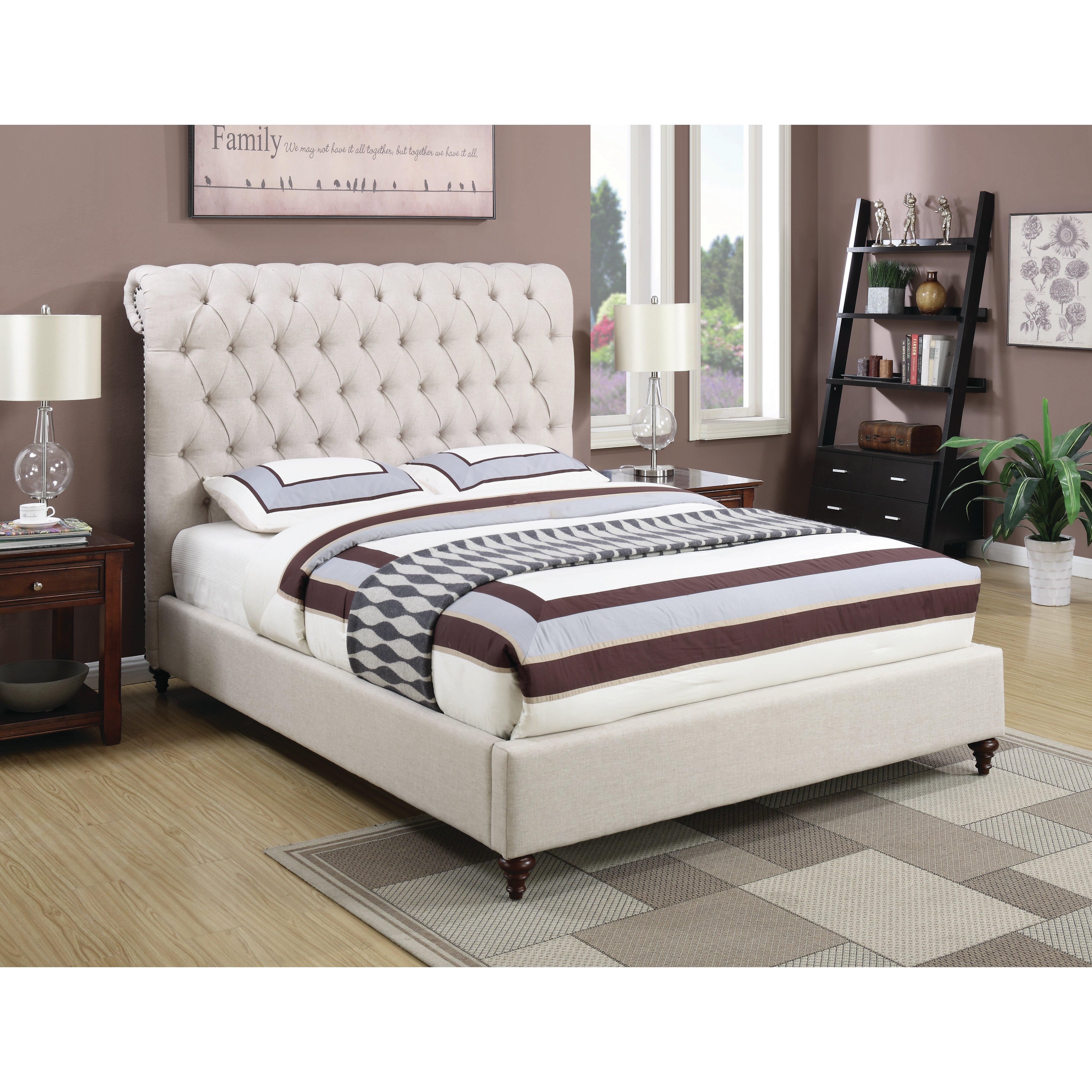 House of hampton hunstanton upholstered sleigh bed for House of hampton bedding