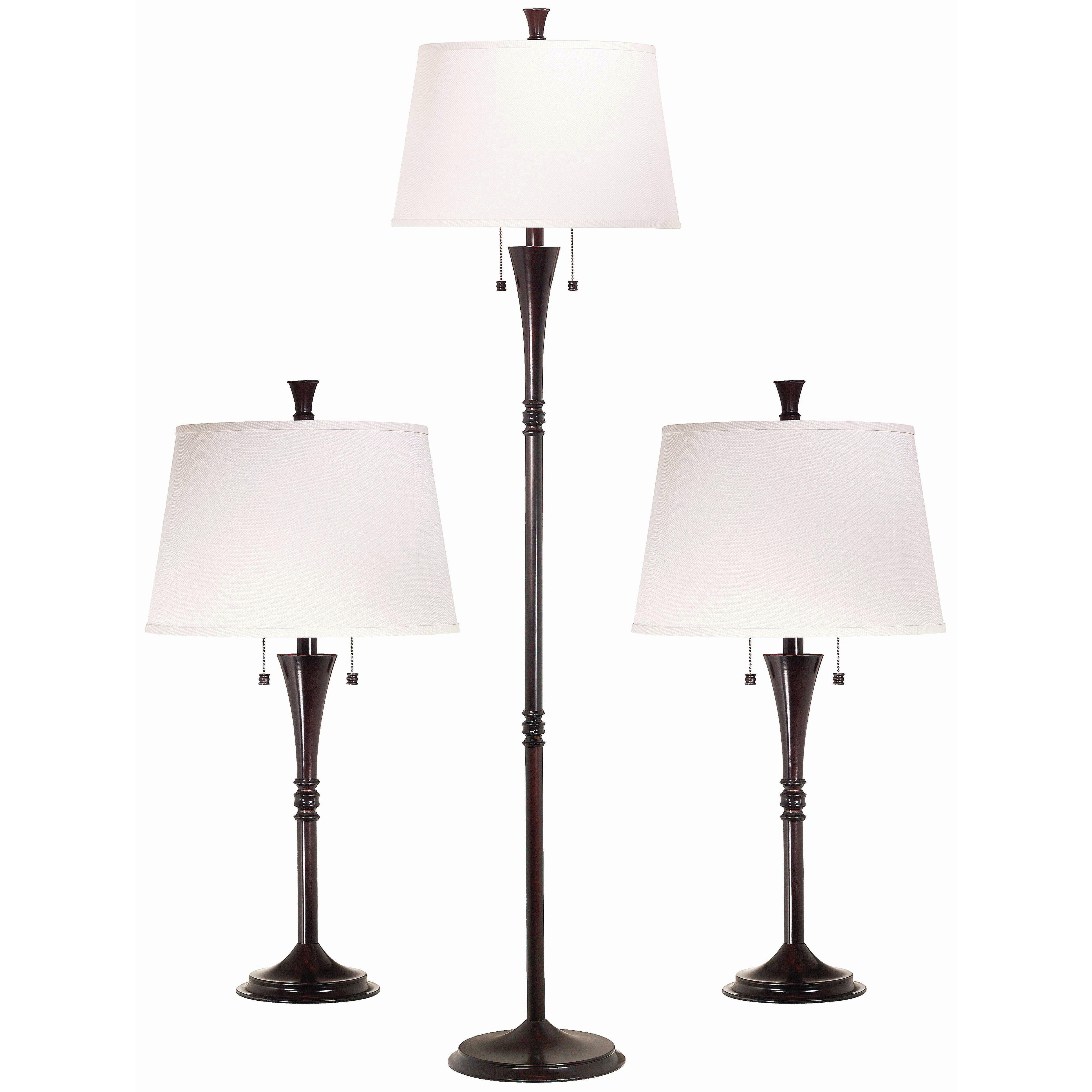 Wildon Home ® Rowena 3 Piece Table and Floor Lamp Set & Reviews ...:Wildon Home ® Rowena 3 Piece Table and Floor Lamp Set,Lighting