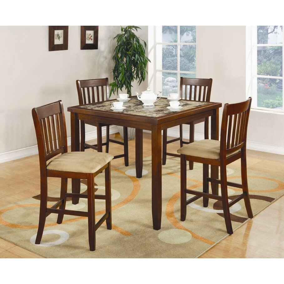Cherry kitchen table and chairs - Unity 5 Piece Counter Height Dining Set