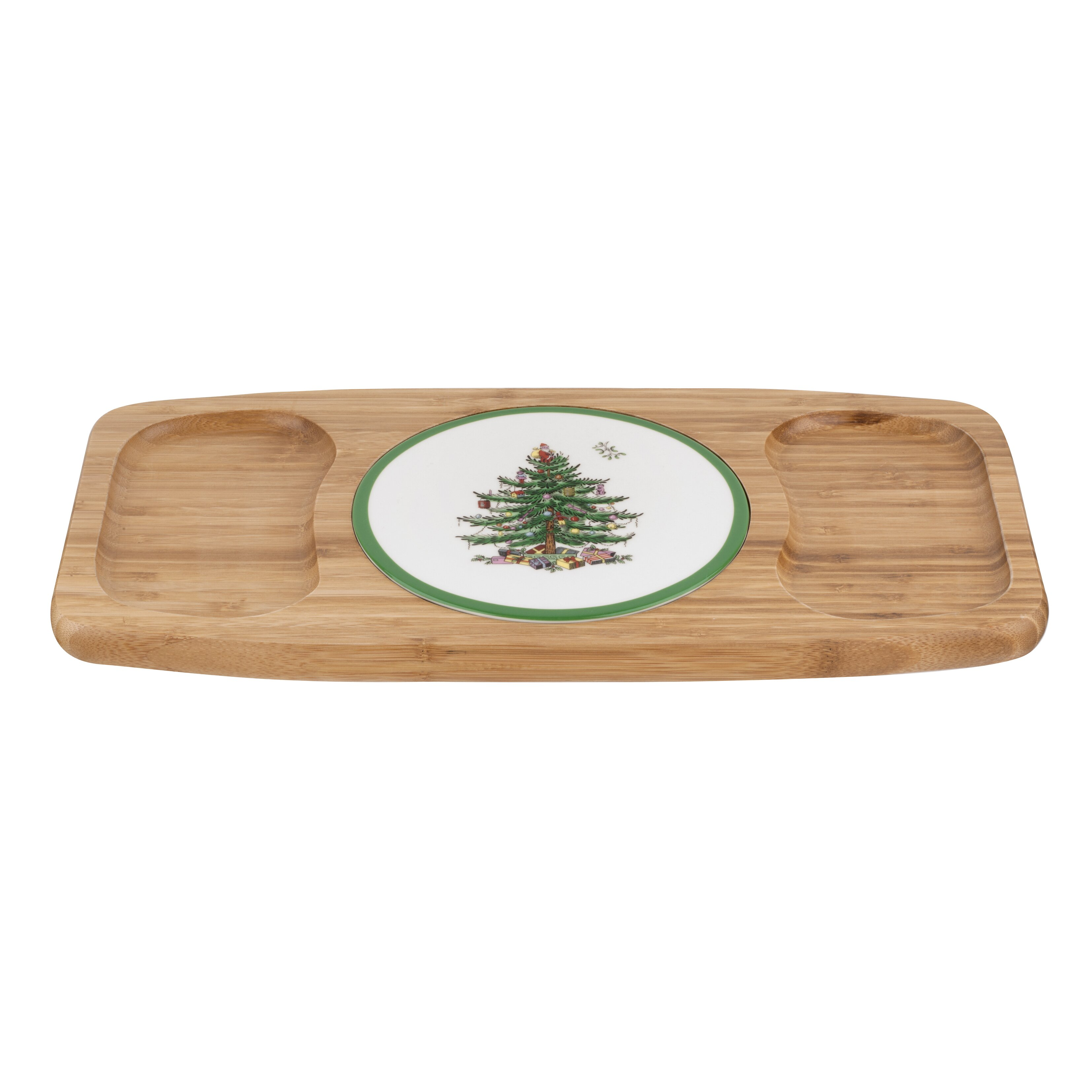 Spode christmas tree entertain cheese tray reviews wayfair for Christmas tree tray floor