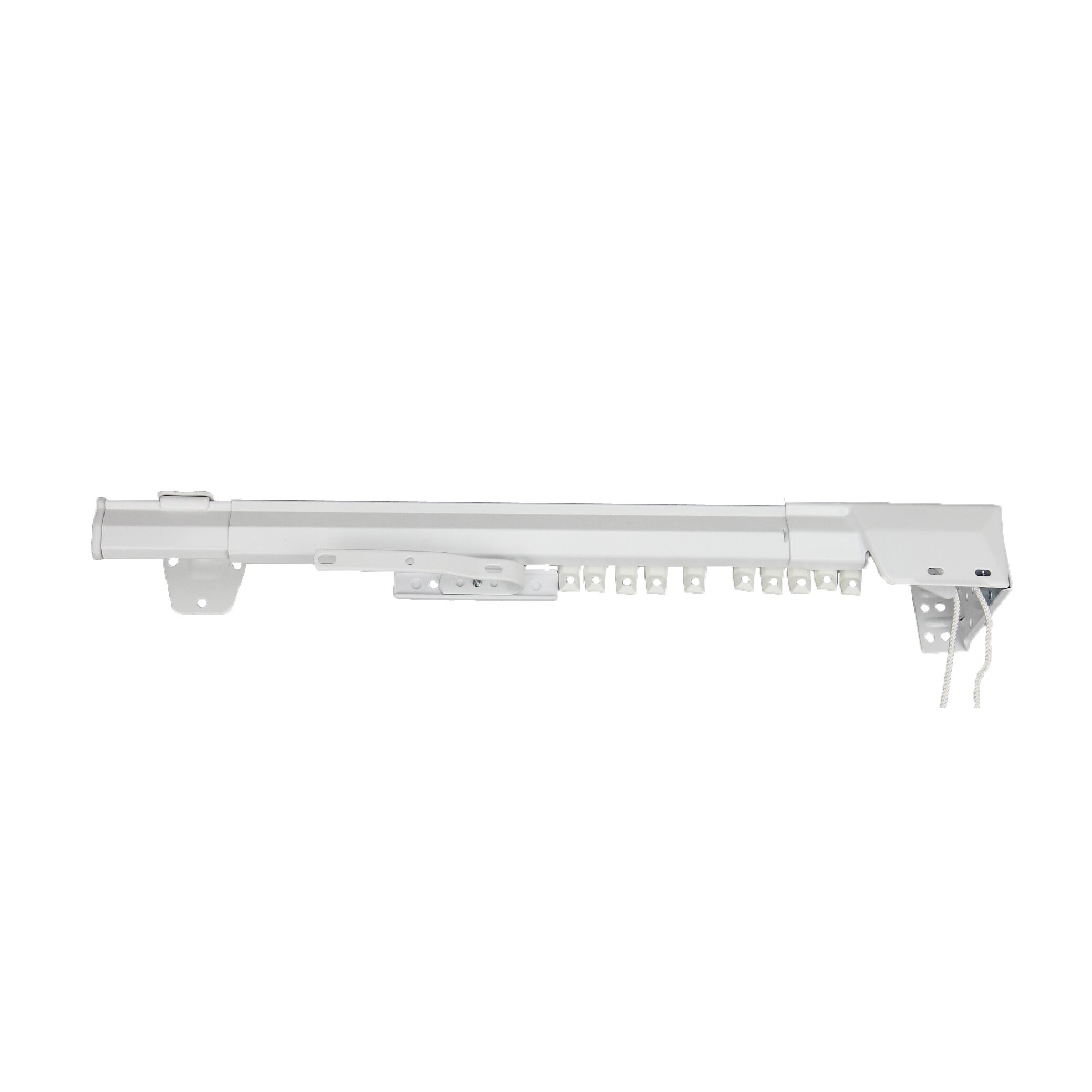 White double curtain rods - Modern Double Curtain Rod