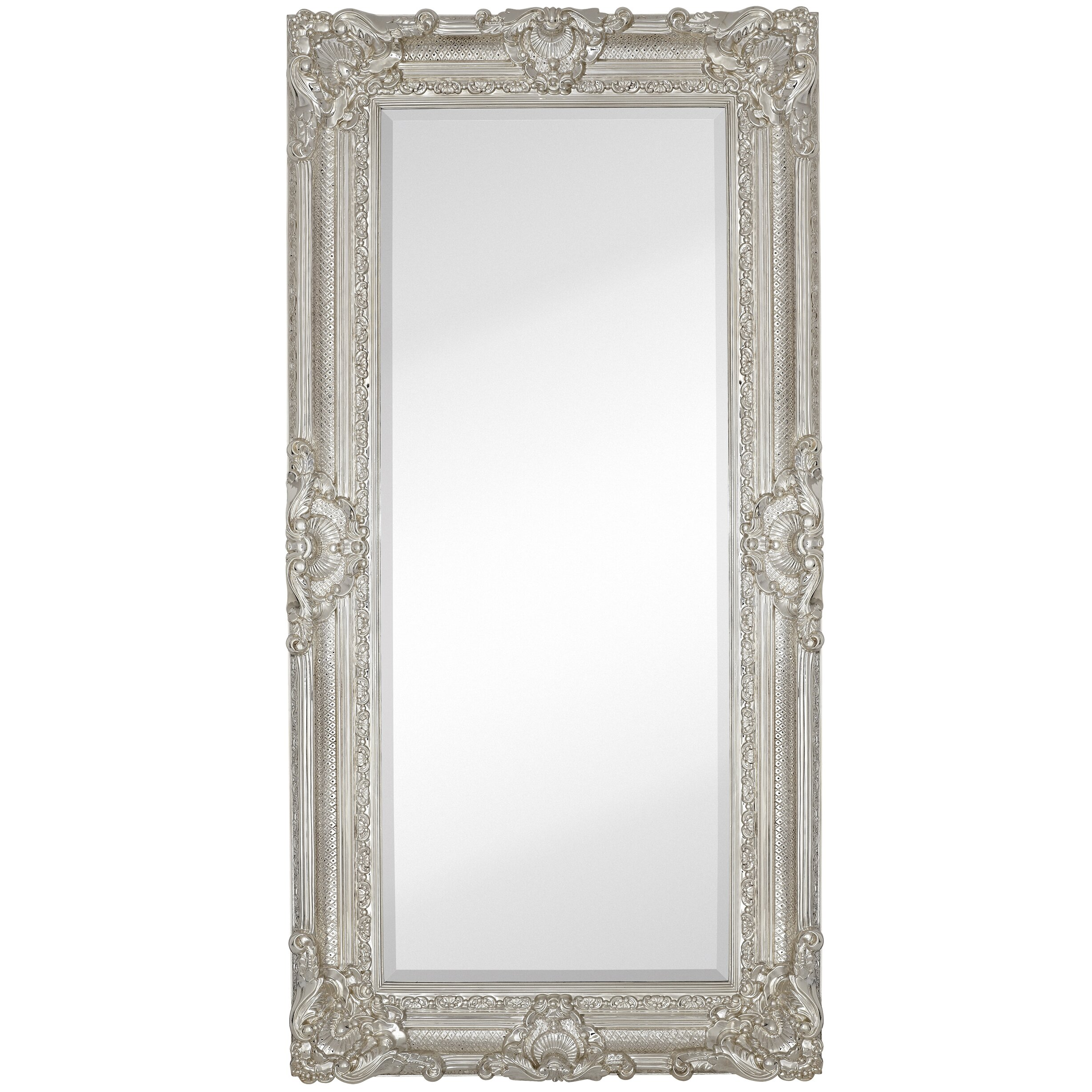majestic mirror large traditional polished chrome rectangular beveled glass framed wall mirror