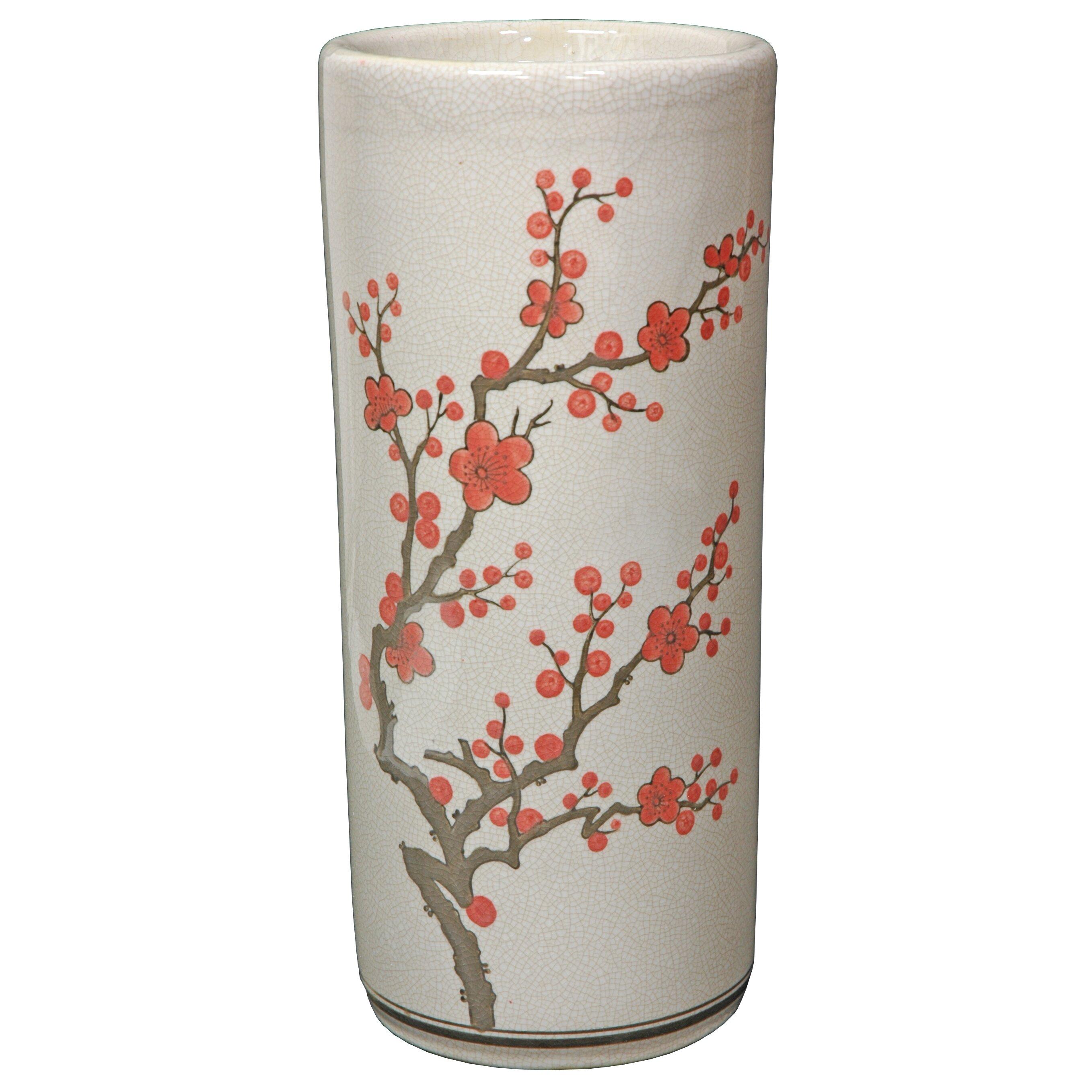 Oriental Furniture Cherry Blossom Umbrella Stand Amp Reviews