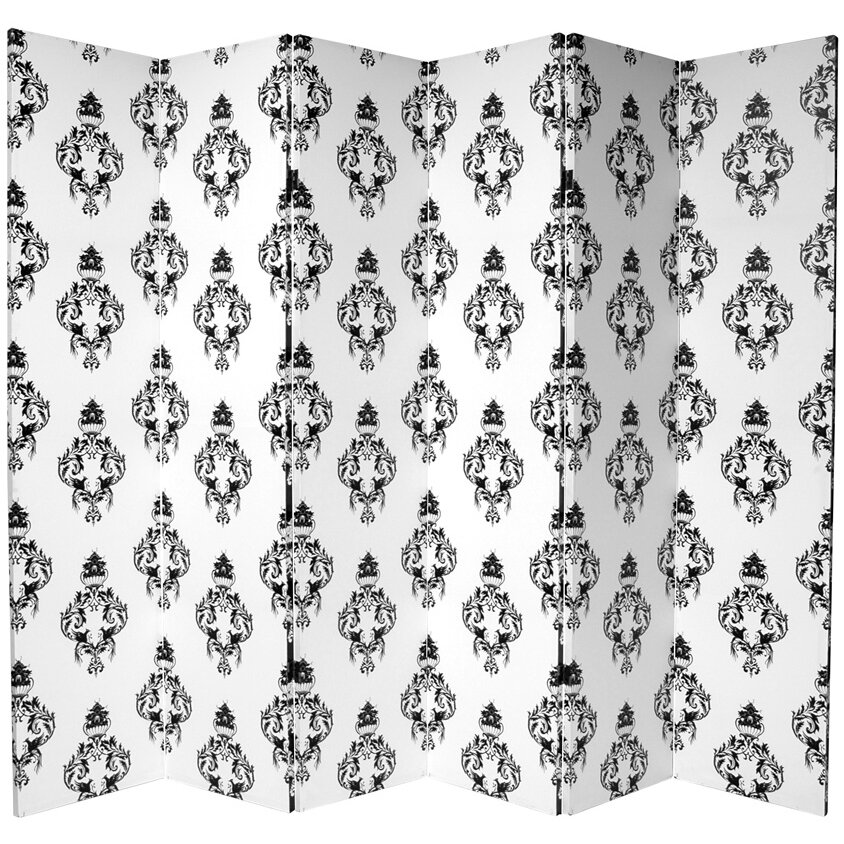 Oriental Furniture 70 88 Quot X 94 Quot Double Sided Damask 6 Panel Room Divider Magnifying Glass Previous Oriental Furniture 70 88 Quot