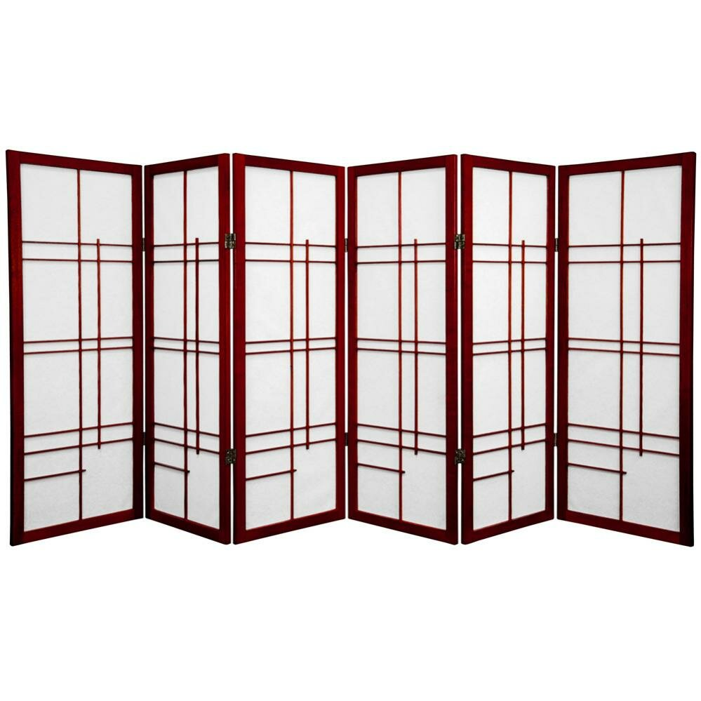 "Oriental Furniture 48"" x 86"" Eudes Shoji 6 Panel Room Divider - Oriental Furniture 48"