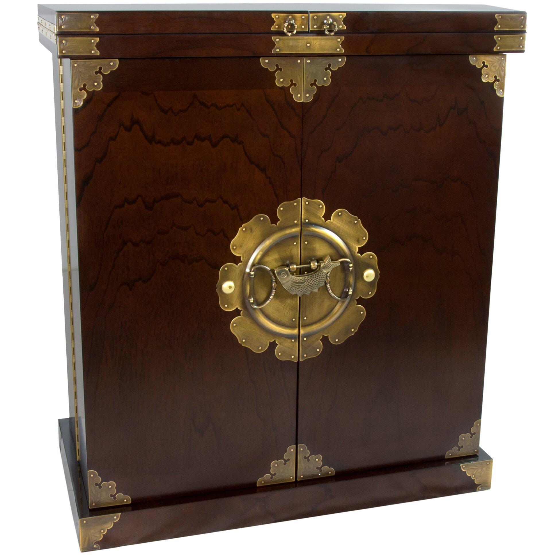 Wine Bar Storage Cabinet Oriental Furniture Korean Bar Cabinet With Wine Storage Reviews