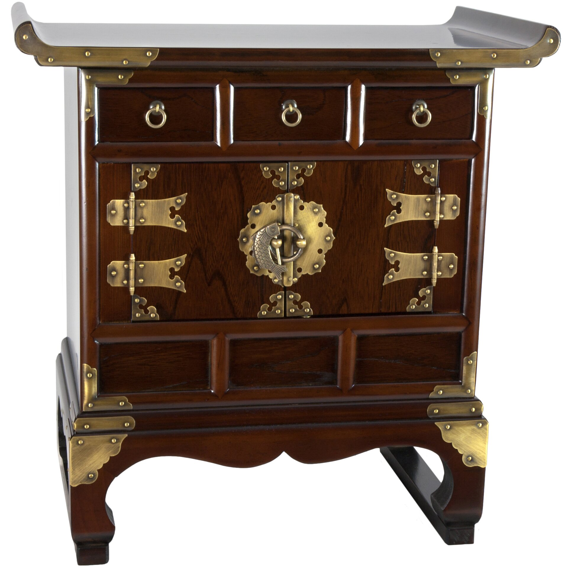 Antique Drawer Cabinet Oriental Furniture Korean 3 Drawer End Table Cabinet Reviews