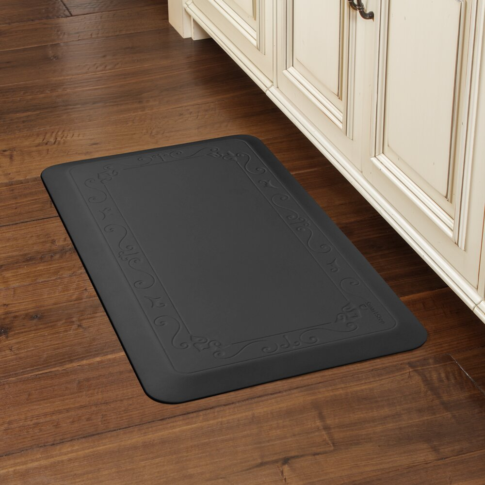 smart step fleur-de-lys series kitchen mat & reviews | wayfair