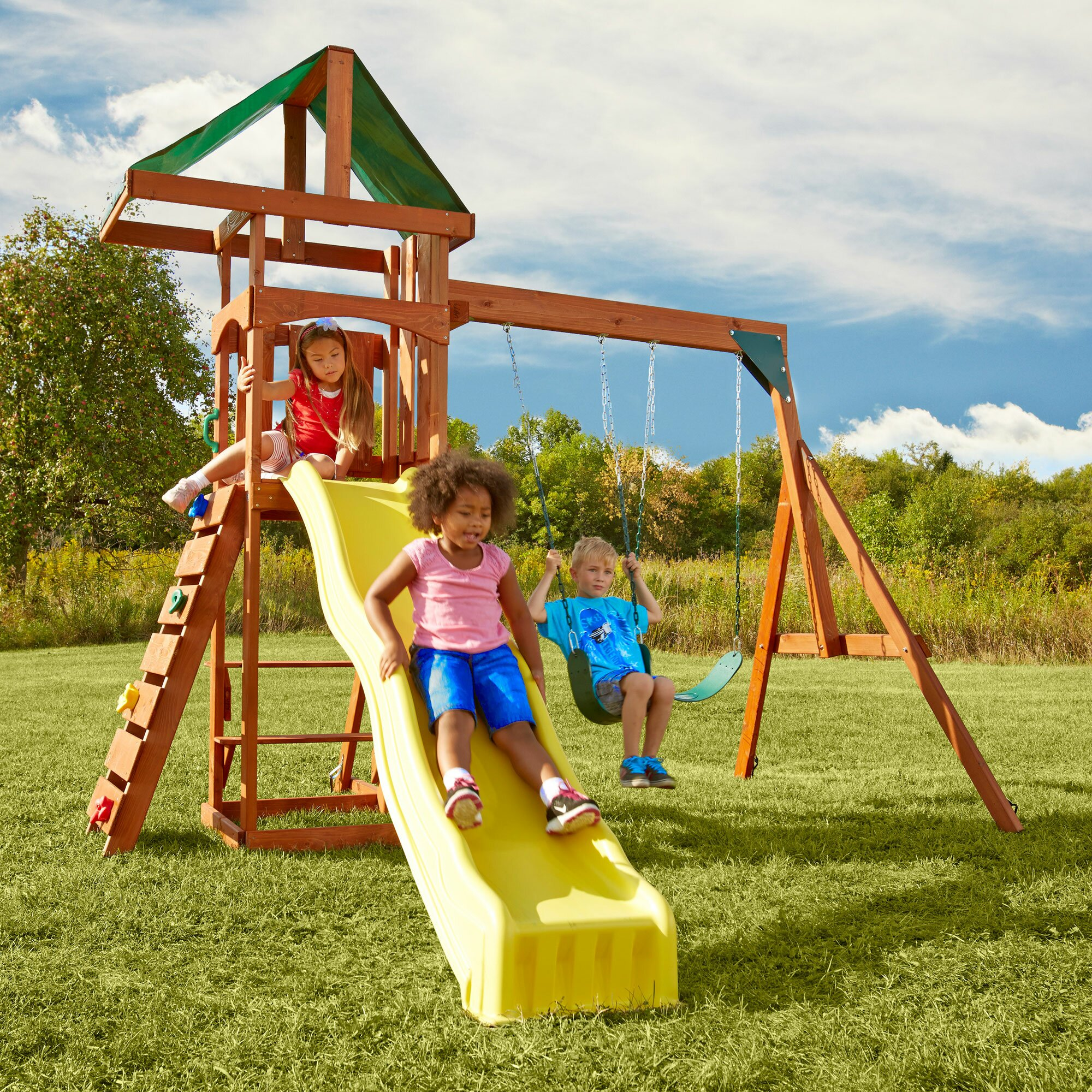 Swing-n-Slide Play Set Scrambler Swing Set & Reviews
